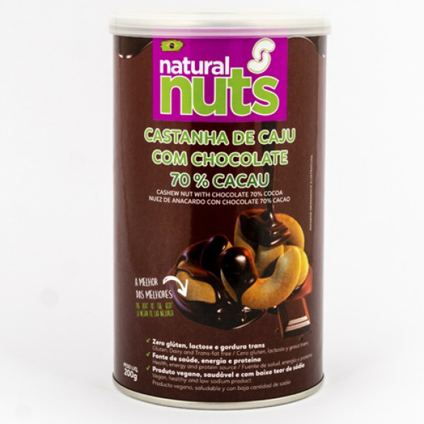Cashew Nut with Chocolate 70% Cocoa 200g