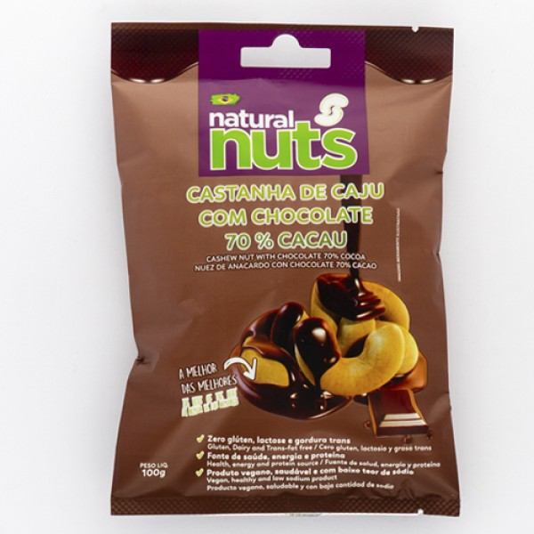 Cashew Nut with Chocolate 70% Cocoa Bag 100g