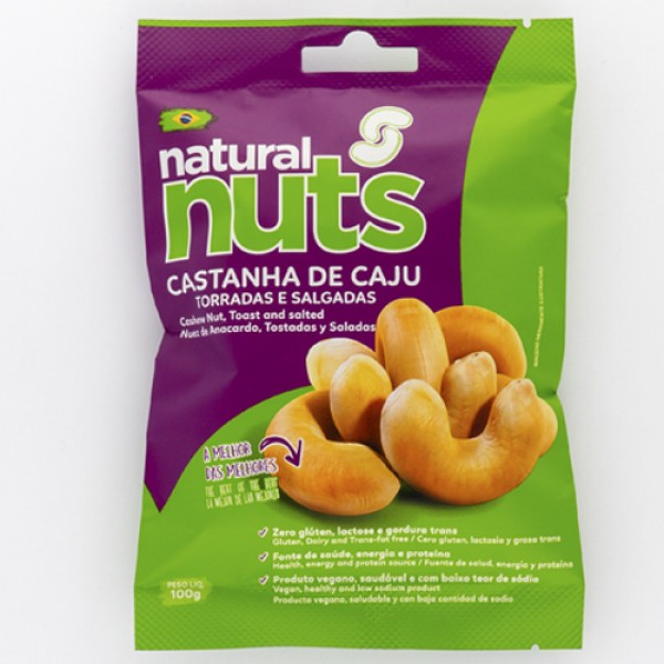 Roasted and Salted Cashews Bag 100g