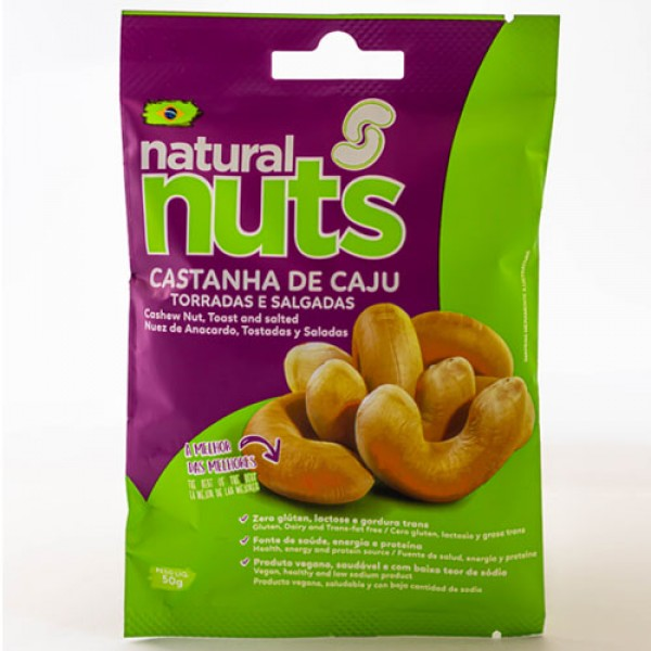 Toasted and Salted Cashew Nuts 50g Bag