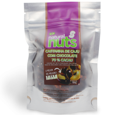 Cashew Nut with Chocolate 70% Cocoa Ziplock