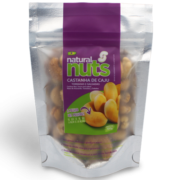 Roasted and Salted Cashews Ziplock 100g