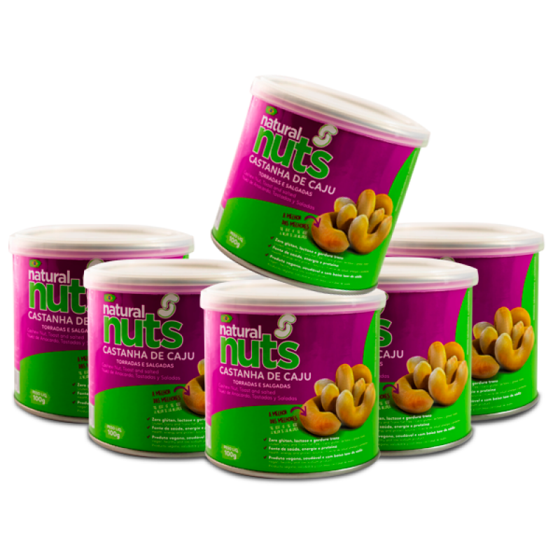 Kit 6 Cans Toasted and Salted Chestnut 100g