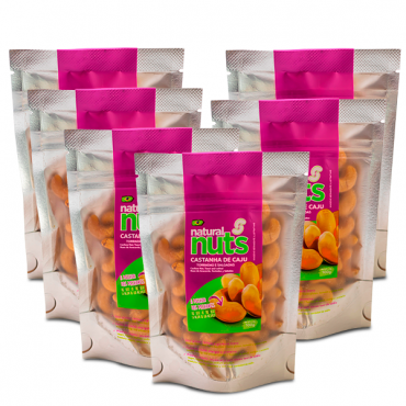 Kit 6x Toasted and Salted Cashew Nuts Ziplock 100g